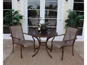 Chub Cay Patio 3 Piece Slatted Table and Arm Chair Set