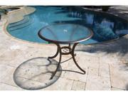 """Coco Palm Patio Dining 36"""" Bistro Table with Tempered Glass"""