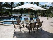 Chub Cay Patio 7 Piece Arm Chair and Table Set