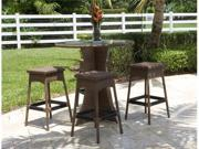 Grenada 5 Piece Armless Barstool and Pub Table Set