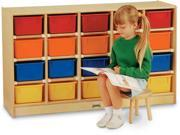 Jonti-craft 20 Tray Mobile Cubbie With Colored Trays
