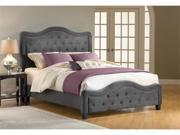 Hillsdale Furniture Trieste Upholstered Queen Bed in Pewter Fabric
