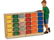 30 Tray Mobile Storage With Colored Trays