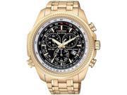 Citizen Perpetual Calendar Chrono Black Dial Rose Gold-Tone Watch BL5403-54E