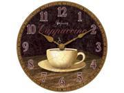 The Dreamy Cappuccino Wall Clock - by Infinity Instruments