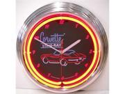 Corvette Sting Ray Neon Wall Clock - by Neonetics