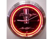 Ford Mustang Neon Wall Clock - by Neonetics