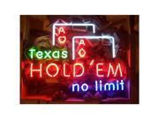 Texas Hold Em Neon Sign - by Neonetics