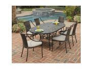 Stone Harbor 7PC Dining Set with Laguna Arm Chairs - by Home Styles
