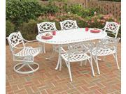 """Biscayne 7PC Dining Set 72"""" Table / Swivel Chairs / Arm Chairs - by Home Styles"""