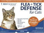 Vetri-Science Flea + Tick Defense for Cats (3 dose pkg)