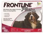 Frontline Plus for Dogs 89-132 lbs 6 Pack Genuine USA