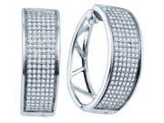0.91ctw Diamond Micro-Pave Hoop Earrings