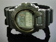 New Casio G Shock 5.25Ct Full Case Black diamonds Watch