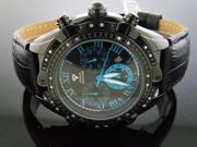 Men's Aqua Master 45MM 24 Big Diamonds Black Case 311