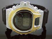Men's Casio G Shock 0.15CT Diamonds Two Tone Watch 6900