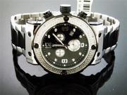New Aqua Master Large Round 0.20CT Diamonds Watch Black