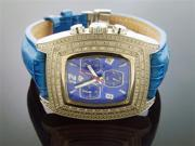 Men Aqua Master Blue Face 20 Diamonds Watch