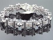 Men Aqua Master 14K White Gold 1.48CTW Diamond Bracelet 35.90 Grm