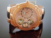 AQUA MASTER 45 MM ROUND 20 DIAMONDS AUTOMATIC ROSE GOLD CASE & FACE WATCH