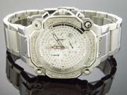 NEW AQUA MASTER SILVER FACE 1.30CT STAINLESS STEEL DIAMONDS WATCH