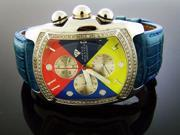NEW AQUA MASTER BUBBLE LOOP 1.25CT DIAMOND WATCH RED AND YELLOW FACE