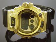 Casio G Shock 3.50CT Full Case White diamonds Gold Face & Case Watch