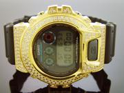 Casio g shock Men's Casio G Shock High quality CZ white crystal Watch Yellow case black face