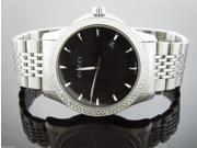 GUCCI men's 40 mm 1.50 ct diamonds Black Dial Bezel Watch Stainless Steel 126.4
