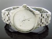 Men's Justbling Stainless Steel 20 Diamonds Watch JB-6212 Silver Tone case
