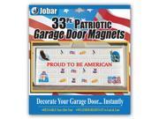 33pc Patriotic Garage Door Magnet Set