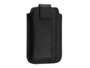 Apple iPhone 4 / 4S Universal D3O Leather Verical Sleeve Case (Black)