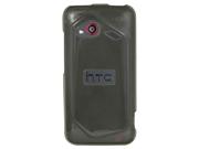 HTC Droid Incredible 4G LTE Silicone Skin TPU Shell (Hard Silicone) Case (Smoke)