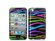 Fosmon Snap On Hard Protector Case Cover for iPod Touch 4th Generation - Rainbow Stripes Design
