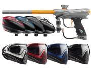 2014 Proto Reflex Rail Paintball Gun & Rotor Combo w/I4 Mask - Graphite/Orange