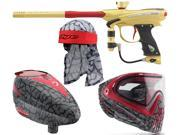 2015 Proto Reflex Rail – Gold/Red & Rotor / i4 Goggles /Headwrap – Skinned Red
