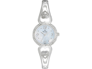 Bulova Crystal White Mother of Pearl Dial Stainless Steel Ladies Watch 96X122