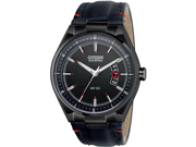 Citizen AW1135-01E Drive Stainless Steel Case Black Dial Leather Strap