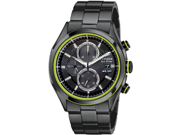 Citizen CA0435-51E Drive Chronograph Black Stainless Steel Case and Bracelet Black Dial Date Display
