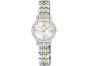 Citizen EX1244-51D Eco-Drive Two Tone Silhouette Swarovski Crystal Bezel Mother of Pearl Dial