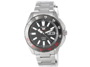 Seiko Black Dial Stainless Steel Mens Watch SRP361