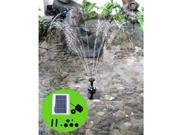 GTMax 1.3 Watt Solar Powered Garden Water Fountain Pump Kit with 3 Nozzle Kit