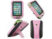 Evecase® Kids-Friendly Leather Wallet Case Cover with Built in Stand for LeapFrog LeapPad Ultra Learning, LeapPad 3 & LeapPad Ultra XDI Kids Tablets - Pink/ Black