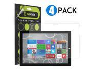 Evecase Crystal Clear & Anti-Glare Matte Screen Protector Mix Set for Microsoft Surface Pro 3 Tablet - 4 Pack