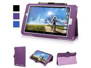Evecase Acer Iconia Tab 8 A1-840 FHD Case, SlimBook Leather Folio Stand Case Cover with Magnetic Closure for Acer Iconia Tab 8 A1-840FHD-197C 8.0-Inch Full HD Tablet - Purple