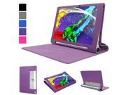 Evecase Lenovo Yoga Tablet 2 Pro ( 13.3-Inch ) Case, SlimBook Leather Folio Case Cover w/ Stand Cut-outs for Lenovo Yoga Tablet 2 Pro 13.3-Inch Android Tablet (1380, 59428121) - Purple