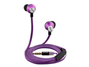 iKross In-Ear 3.5mm Stereo Earphones With Handsfree Microphone Headset for 2014 Newest Apple iPhone 6 / 6 Plus, Samsung Galaxy S6 / S6 Edge – Purple/Black