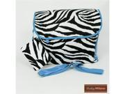 Zebra Diaper Bag in Turquoise Trim