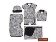 Baby Milano Zebra Baby Clothes 5 piece Gift Set