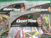 "Pride Golf Tee 2 1/8"" 3 x 50 ct bags Birch Std Mix"